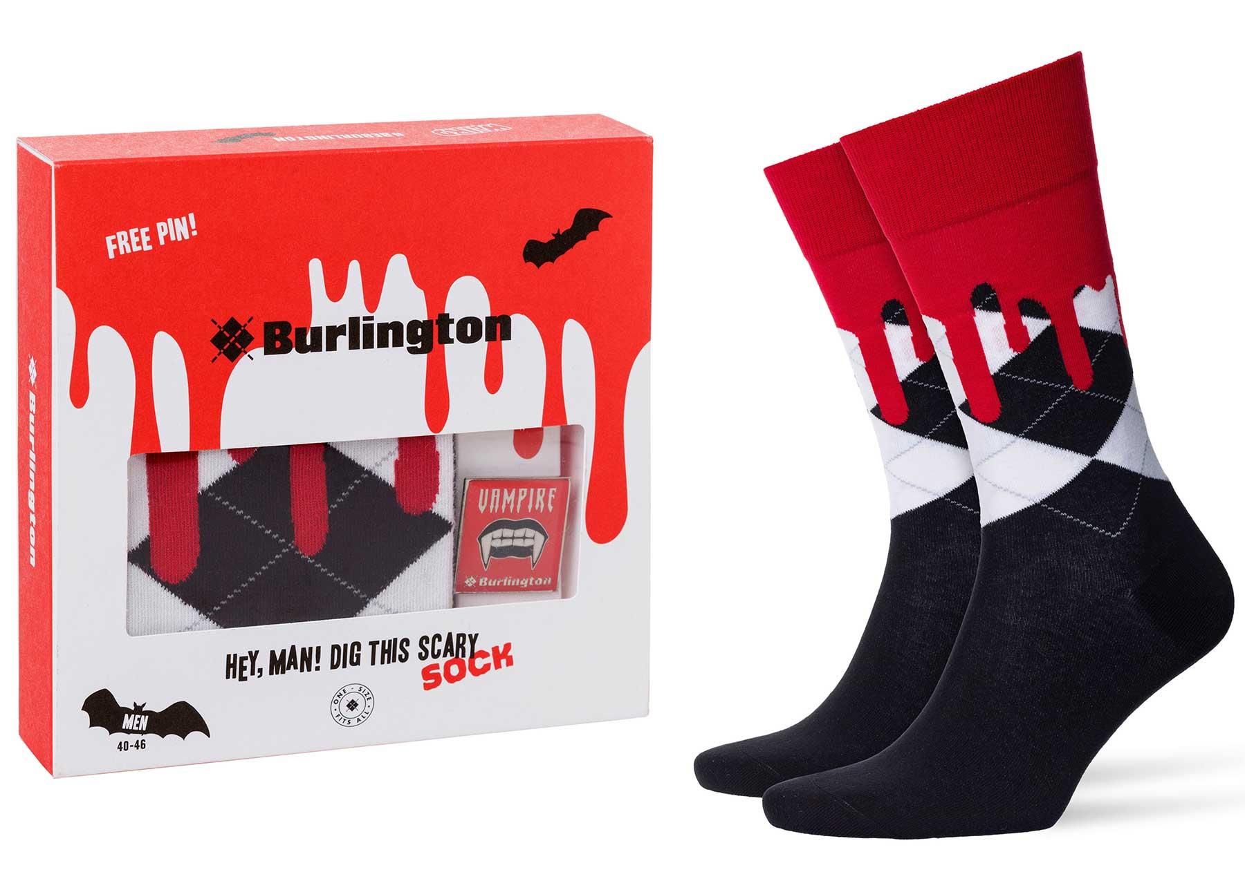 Diese blutigen Socken sind perfekt für Halloween! blutende-Socken-Burlington-Halloween-Edition_02