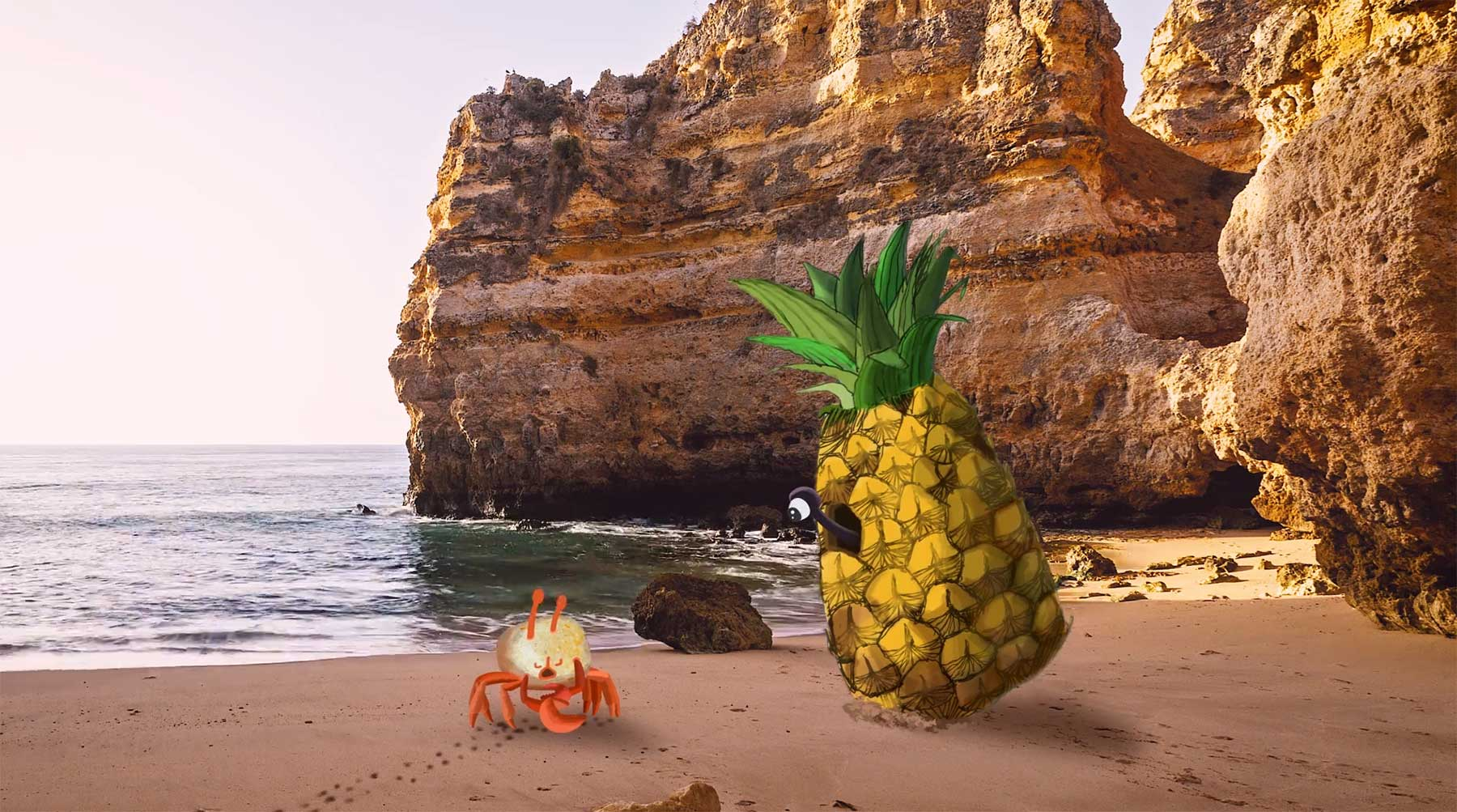 Die vergötterte Krabbe im Ananas-Haus crab-story-kurzfilm