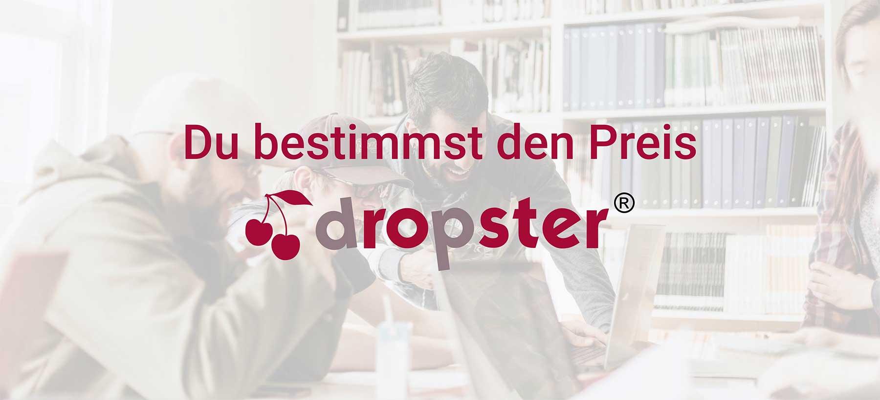 Bei dropster fällt der Verkaufspreis sekündlich dropster-test_10