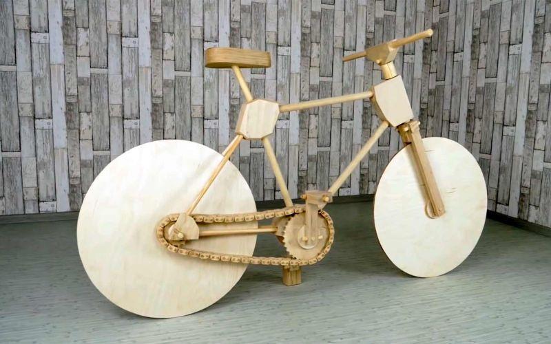 Ein Fahrrad komplett aus Holz bauen
