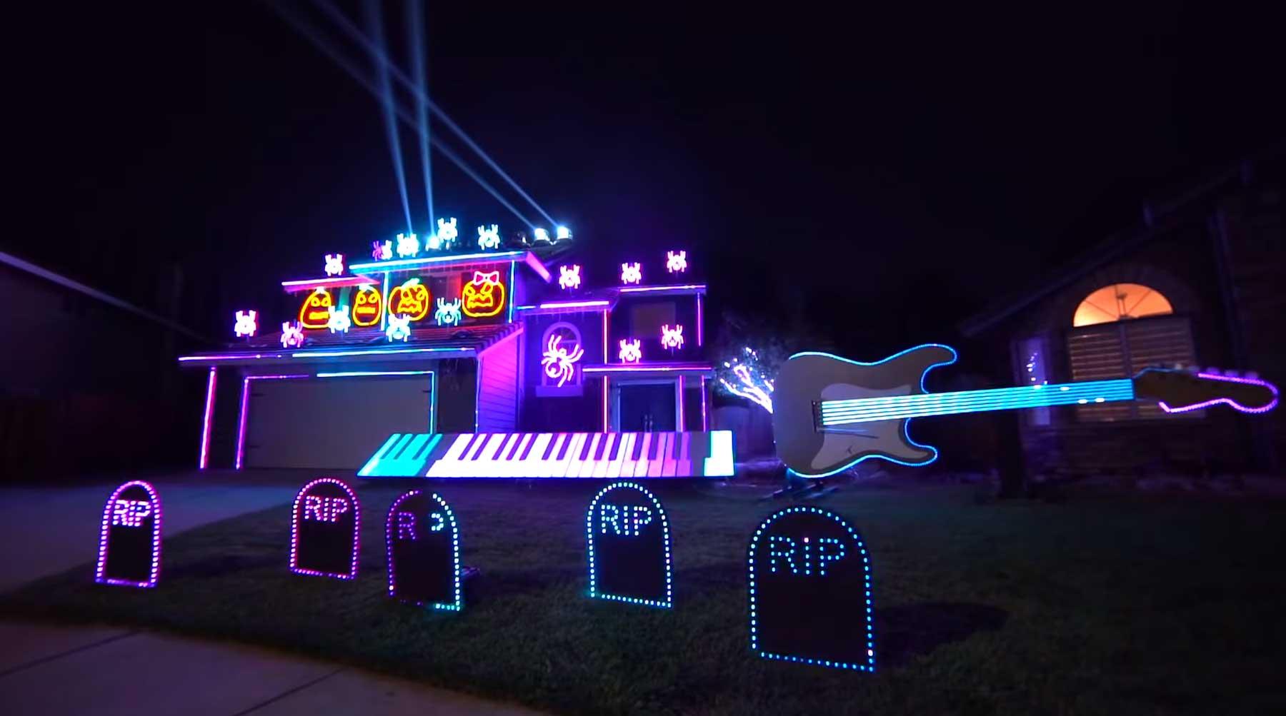 Hauslichtshow tanzt zu einem Best of Michael Jackson-Medley