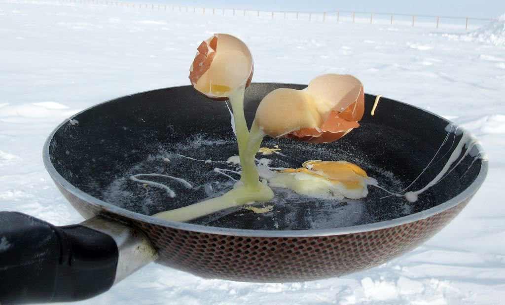 Bei -70° Celsius versuchen, zu kochen