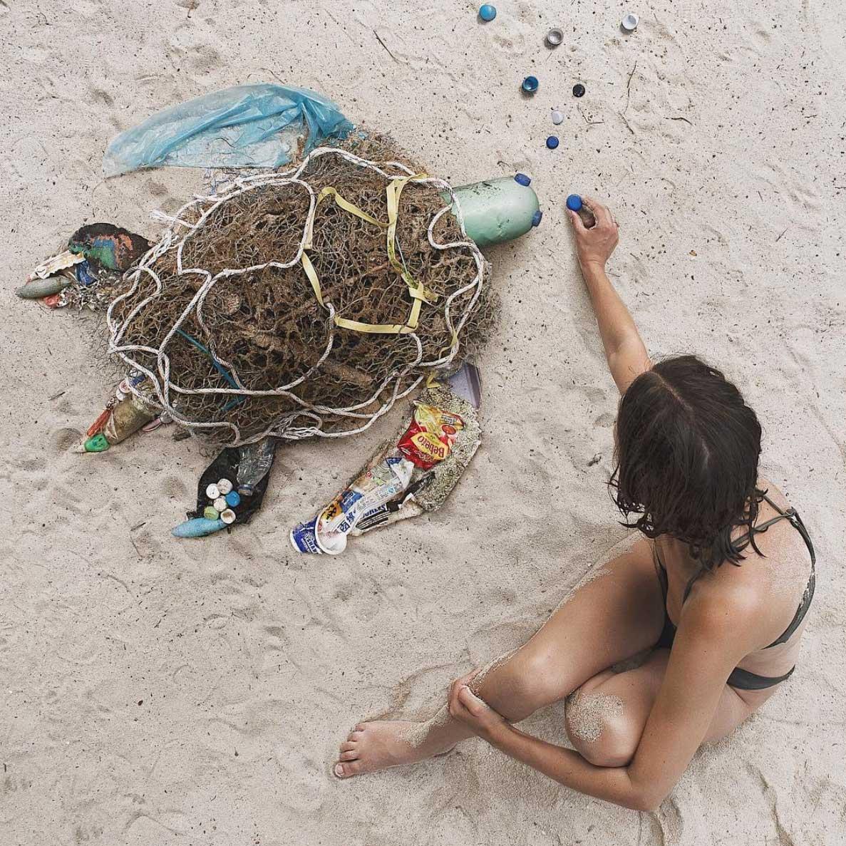 Tiere aus Plastikmüll