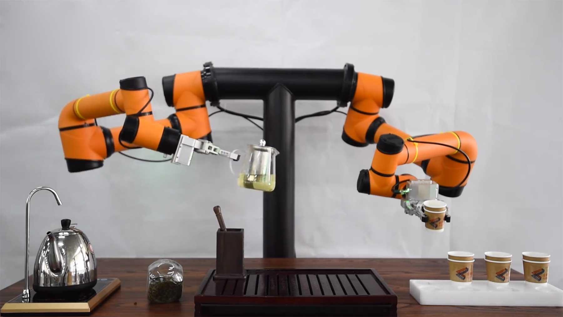 Dieser Roboter kann Tee zubereiten tee-roboter