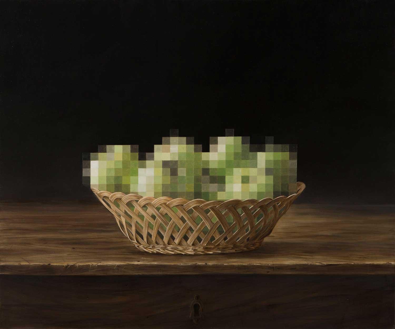 Klassisch anmutende Gemälde mit Verpixelungen