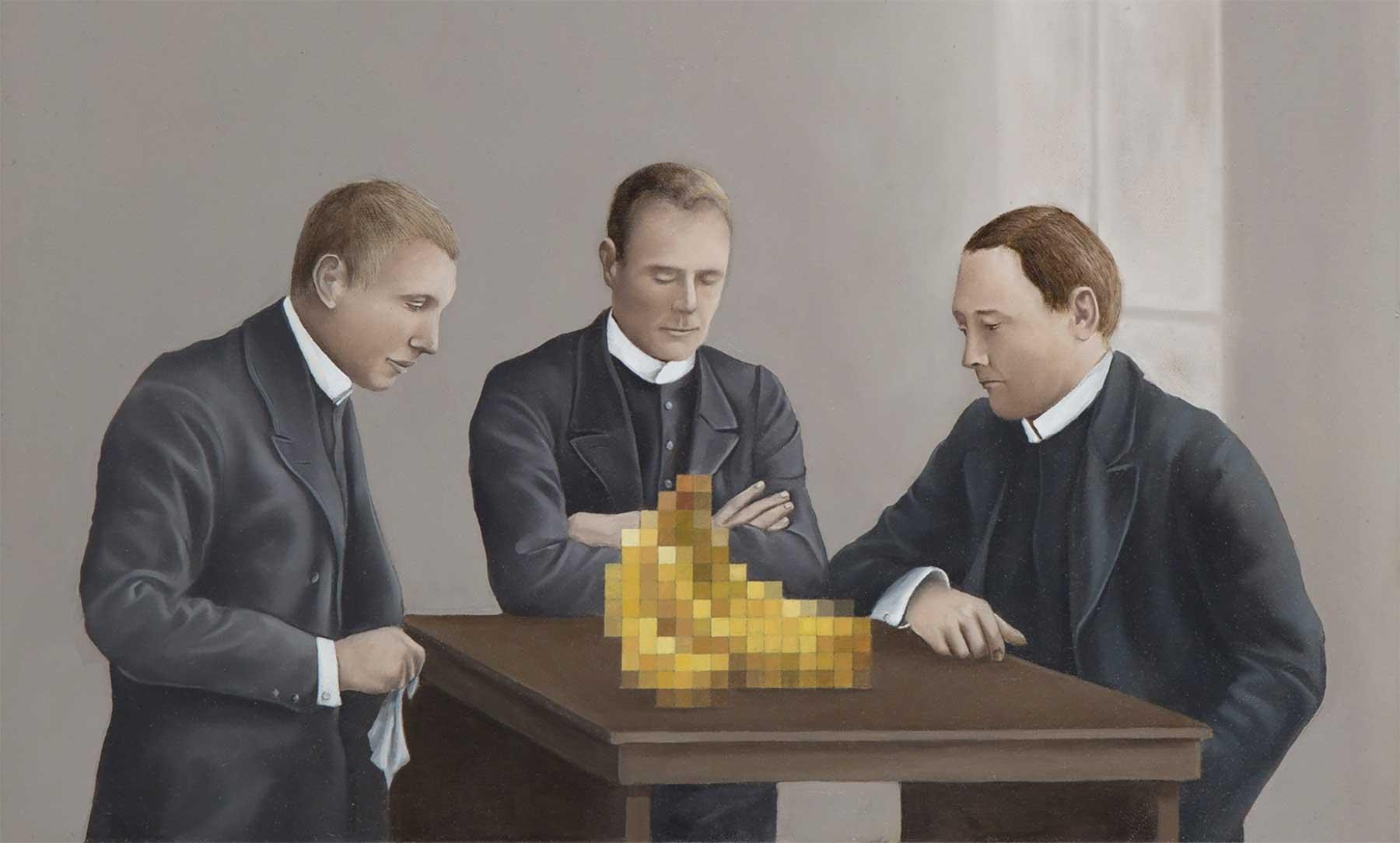 Klassisch anmutende Gemälde mit Verpixelungen Aldo-Sergio_01