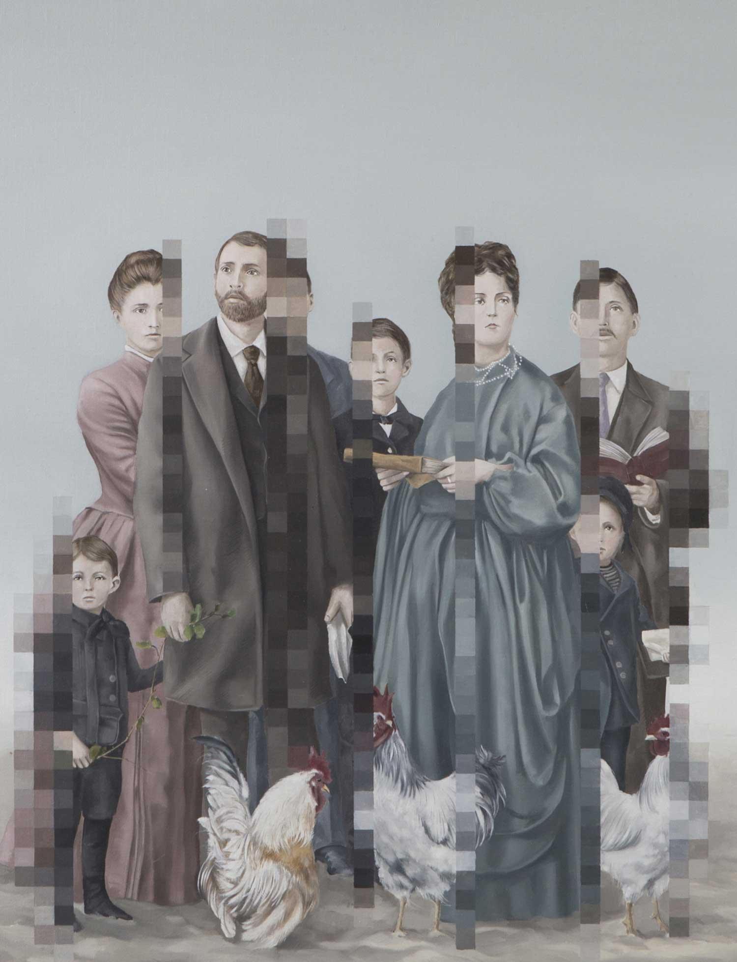 Klassisch anmutende Gemälde mit Verpixelungen Aldo-Sergio_02