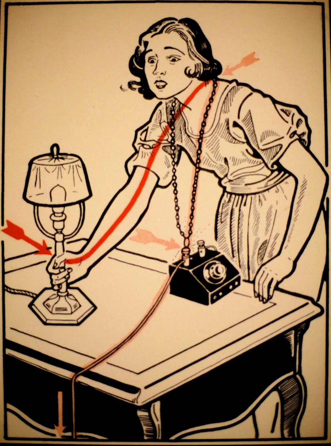 1931 wurde vor skurrilen Arten eines Stromschlages gewarnt Elektroschutz-in-132-Bildern_03