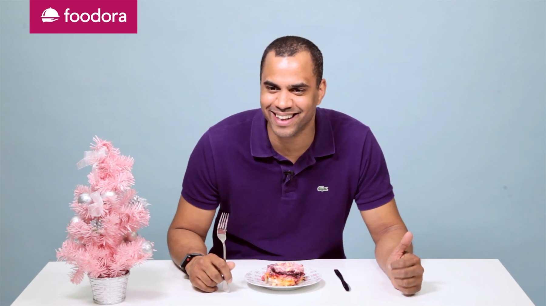 Patrice und Co. testen exotische Weihnachtsgerichte von foodora