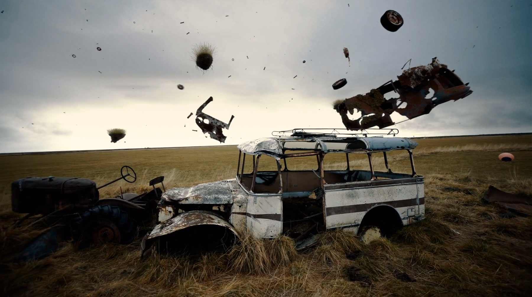 CGI trifft die verlassene isländische Landschaft