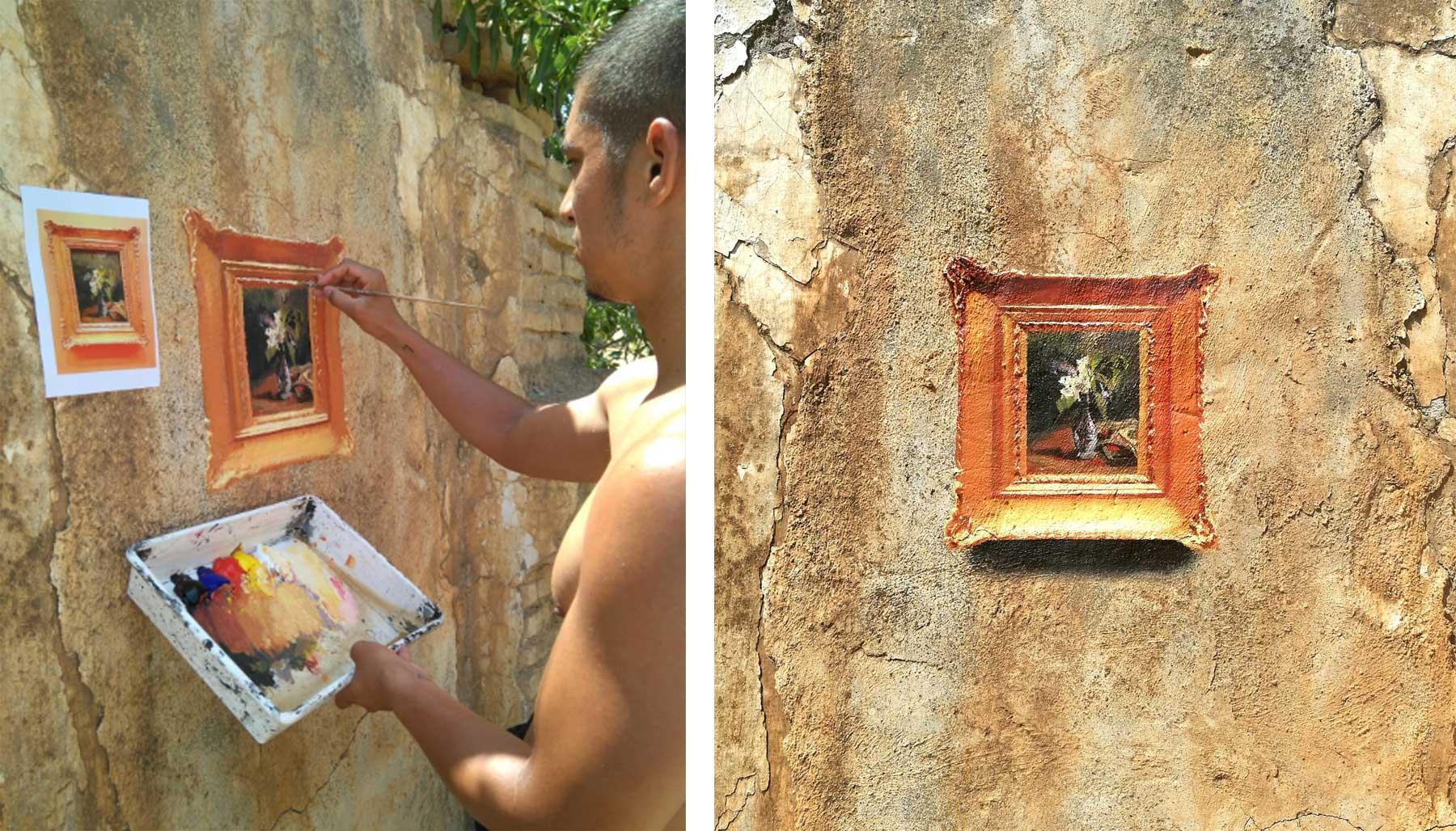 Realistische Abbilder klassischer Gemälde an öffentliche Wände gemalt Julio-Anaya-Cabanding_02