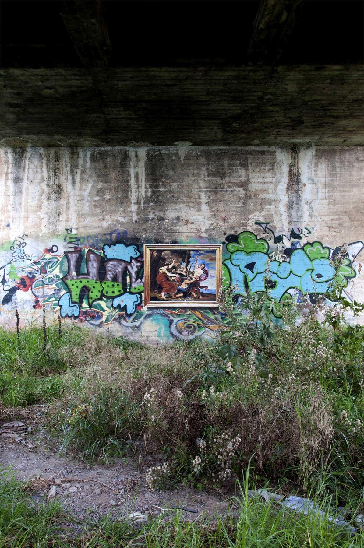 Realistische Abbilder klassischer Gemälde an öffentliche Wände gemalt Julio-Anaya-Cabanding_03