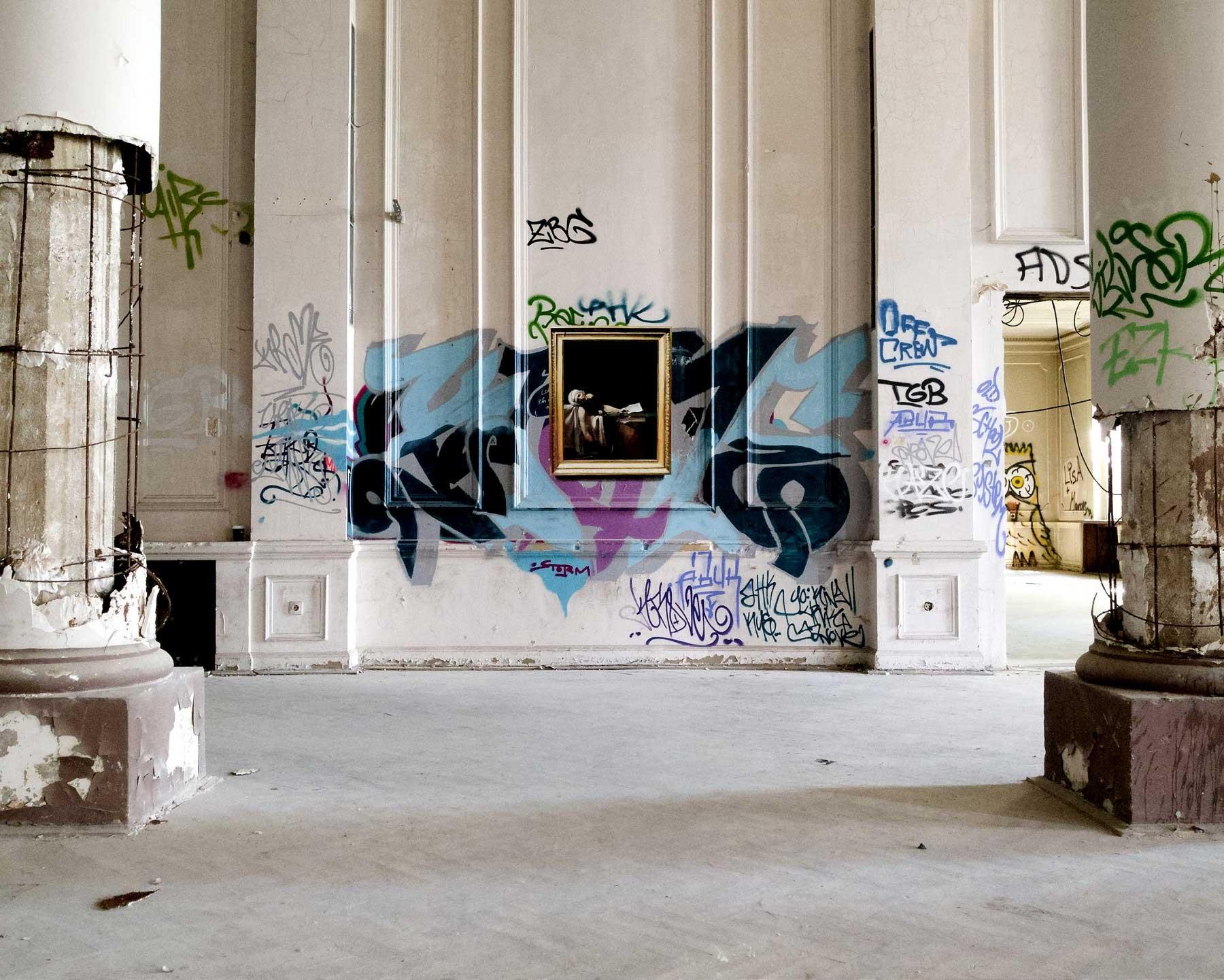 Realistische Abbilder klassischer Gemälde an öffentliche Wände gemalt Julio-Anaya-Cabanding_05