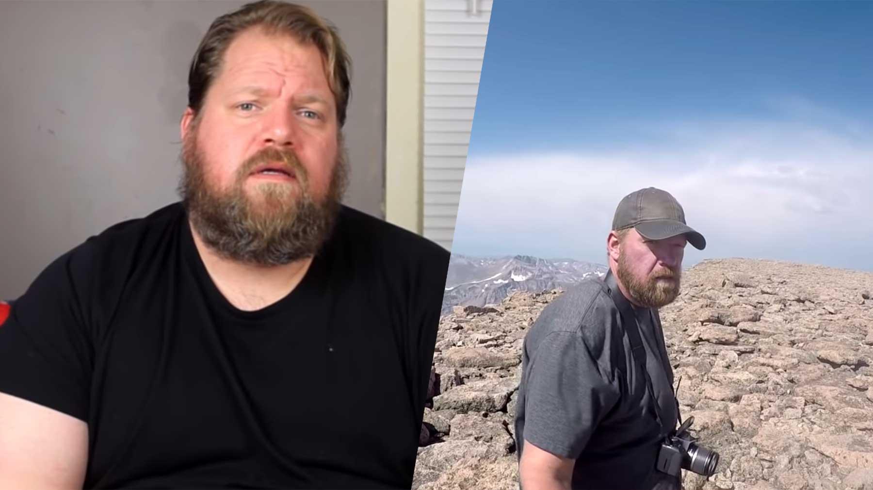Keith Holt nahm 65kg ab, um einen Berggipfel erwandern zu können