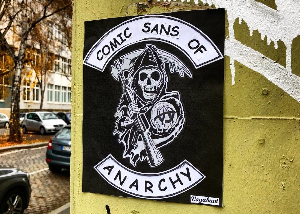 Lustige Street Art: Vagabunt