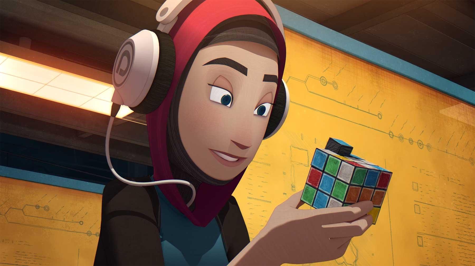 Ein Zauberwürfel als aufdringlicher Reisebegleiter animierter-kurzfilm-scrambled