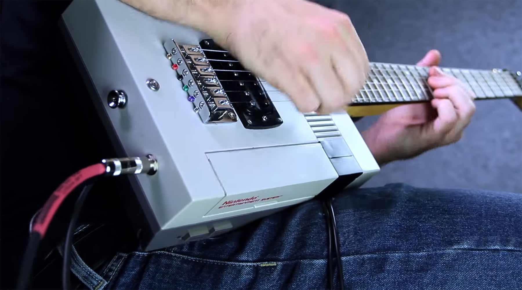 Nintendo-Gitarre (mit funktionierendem NES)