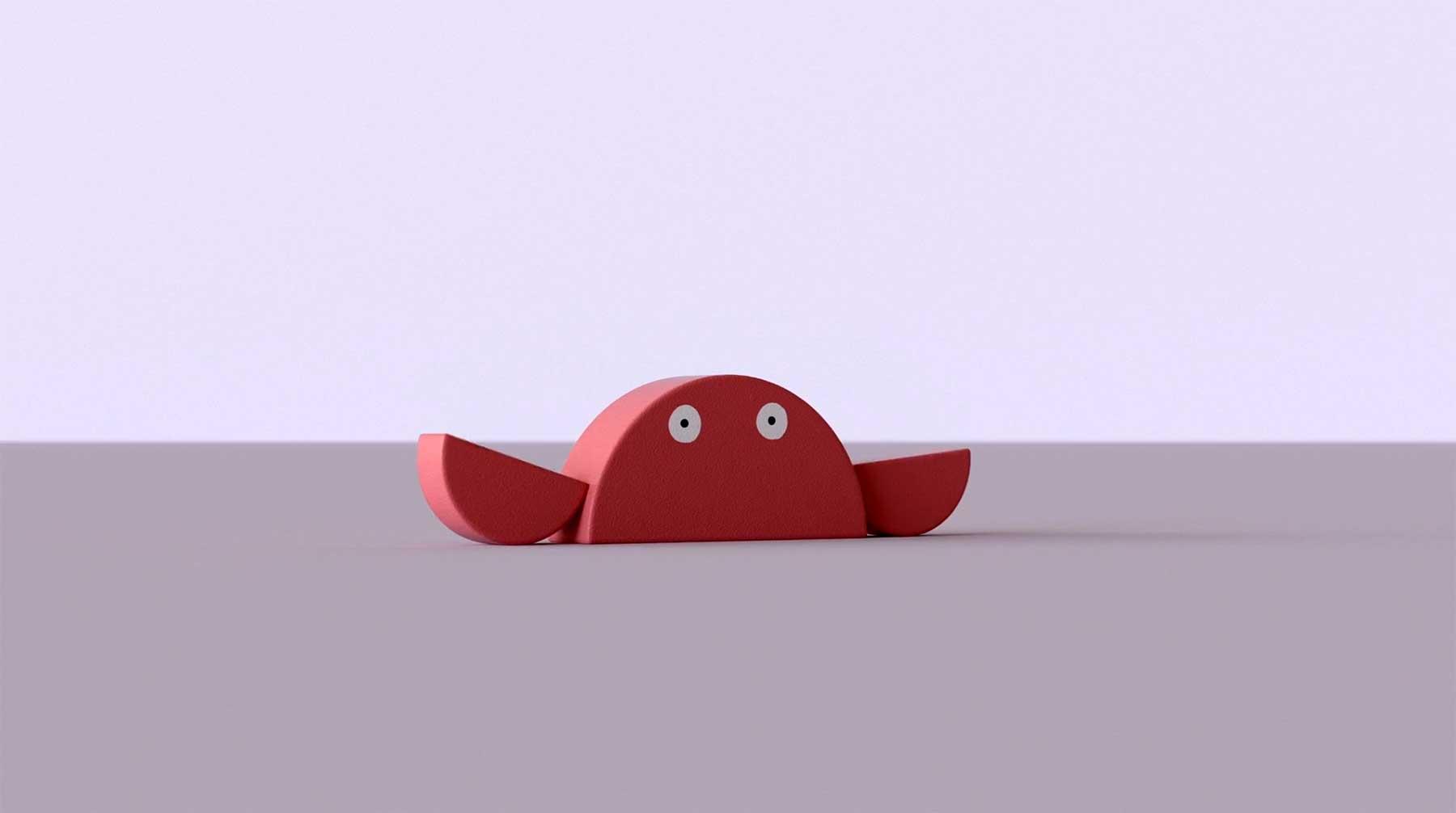 Minimalistische Tiere aus geometrischen Formen