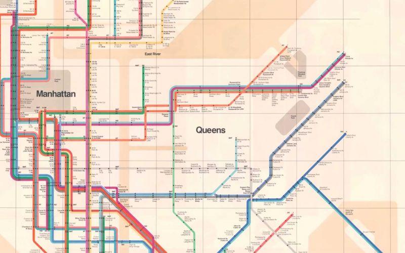 Deshalb kippten die Bürger New York Citys die perfekte U-Bahn-Netzkarte