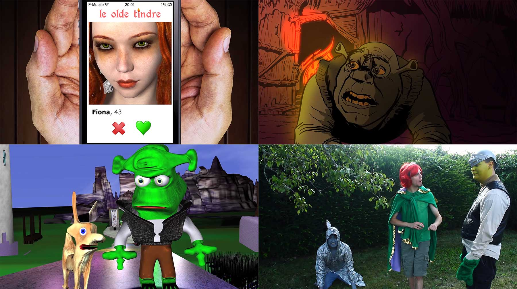 """200 Leute haben gemeinsam den Film """"Shrek"""" nachgestellt"""