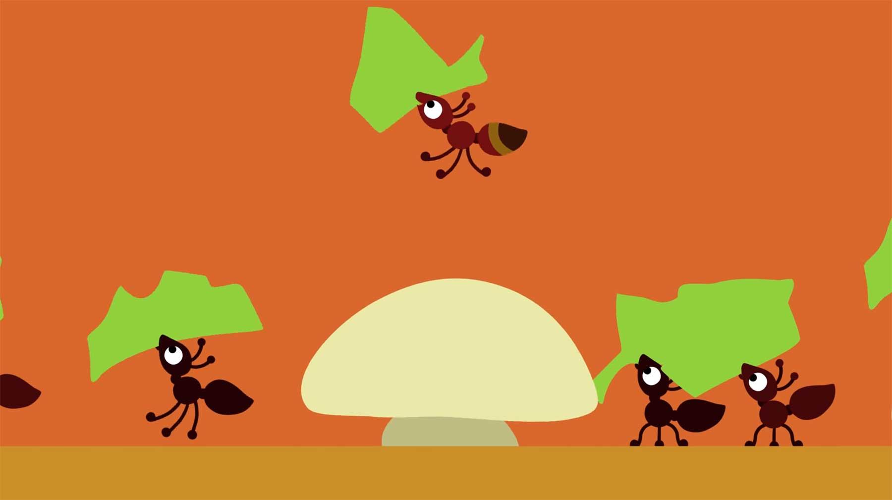 Die aus dem Takt fallende Ameise