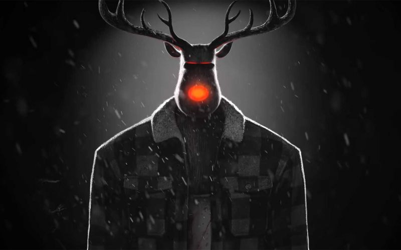 "Weihnachts-Horror von Steve Cutts: ""Fear Of The Deer"""