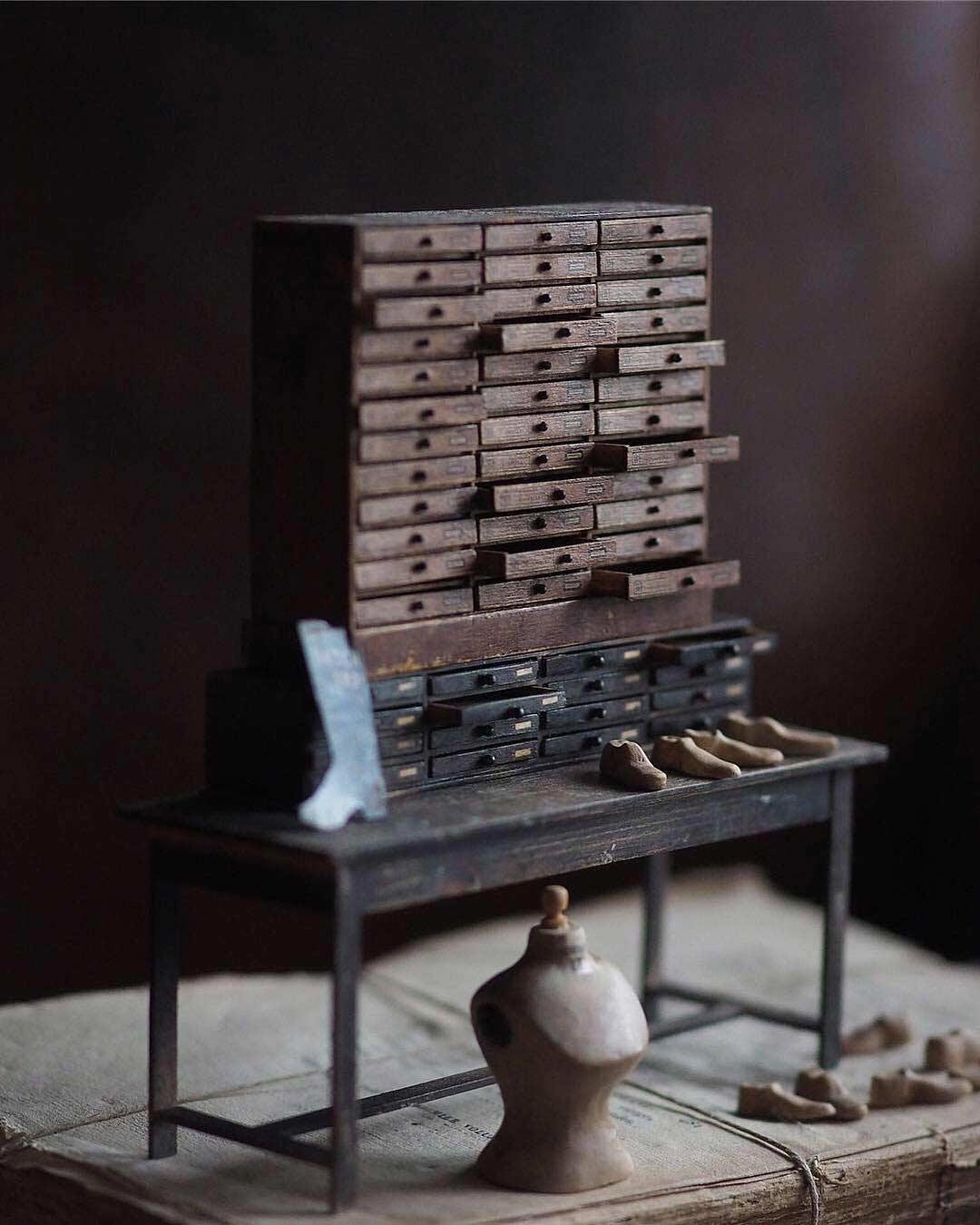 Detailreiche Miniatur-Skulpturen von Kiyomi Kiyomi-Miniatur_06