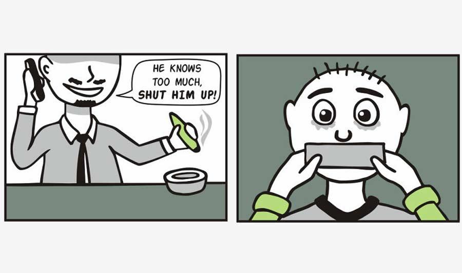Webcomics über einen Gangster, der alles wörtlich nimmt