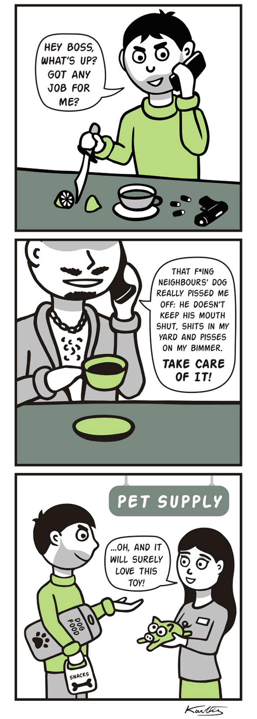 Webcomics über einen Gangster, der alles wörtlich nimmt Literal-Mobster-Jimmy_06