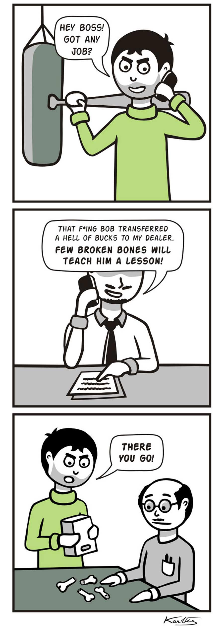 Webcomics über einen Gangster, der alles wörtlich nimmt Literal-Mobster-Jimmy_07