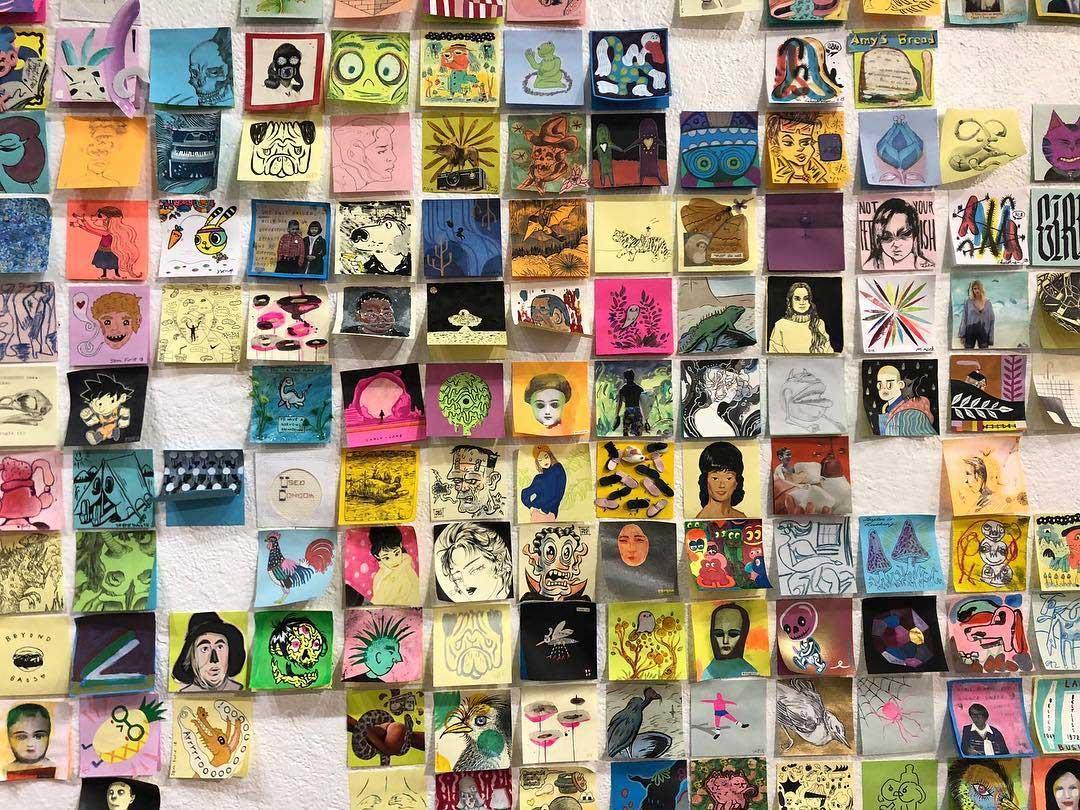 """Bei der """"Post It Show"""" gibt es Kunst im Kleinformat Post-It-SHow-14_01"""