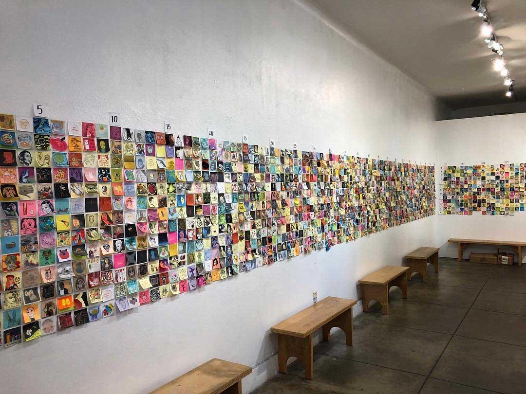 """Bei der """"Post It Show"""" gibt es Kunst im Kleinformat Post-It-SHow-14_02"""