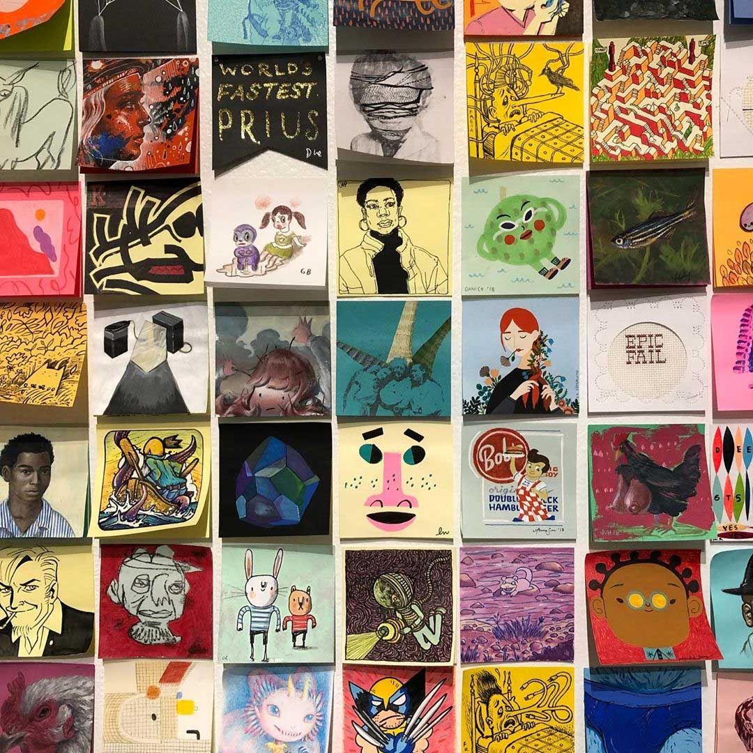 """Bei der """"Post It Show"""" gibt es Kunst im Kleinformat Post-It-SHow-14_03"""