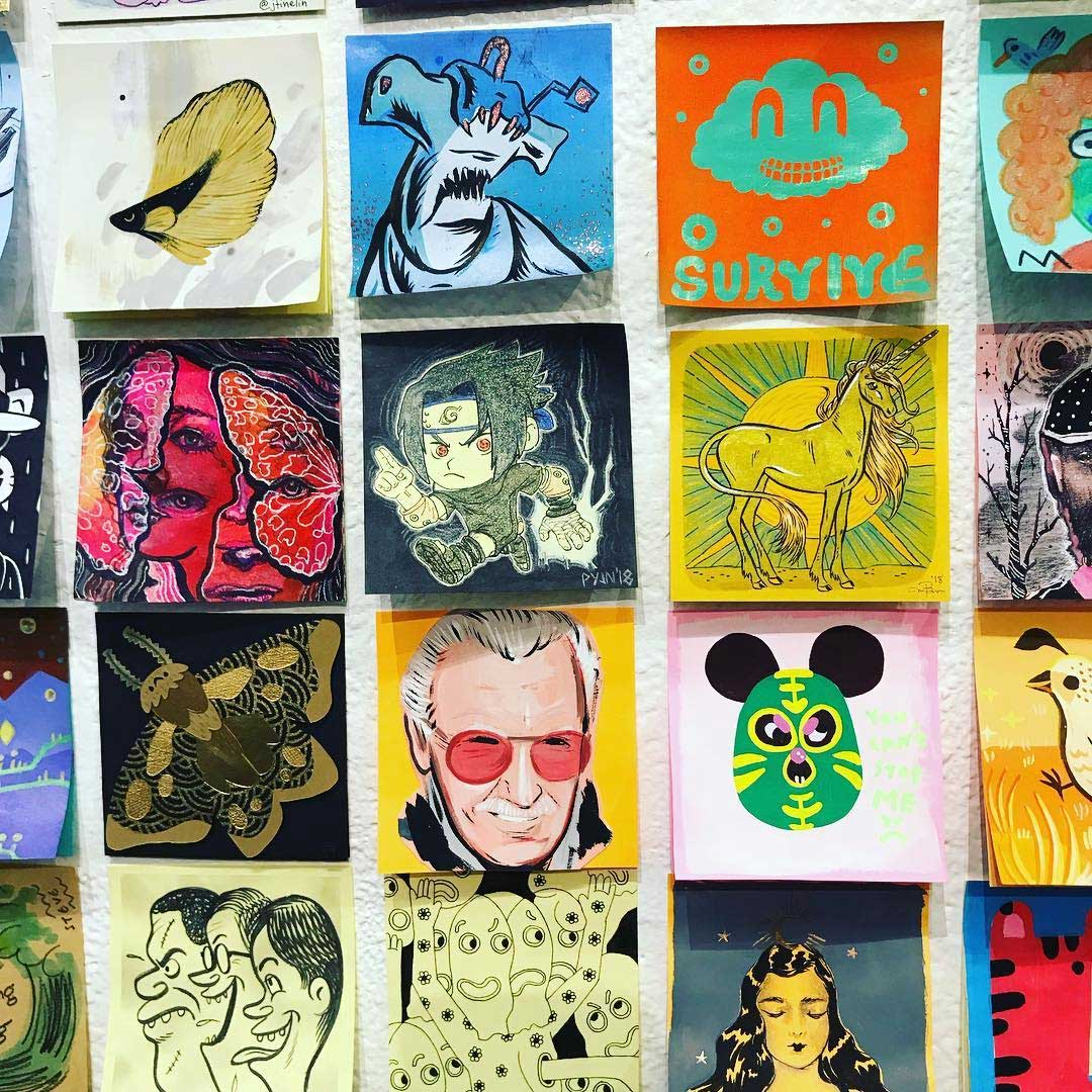 """Bei der """"Post It Show"""" gibt es Kunst im Kleinformat Post-It-SHow-14_05"""