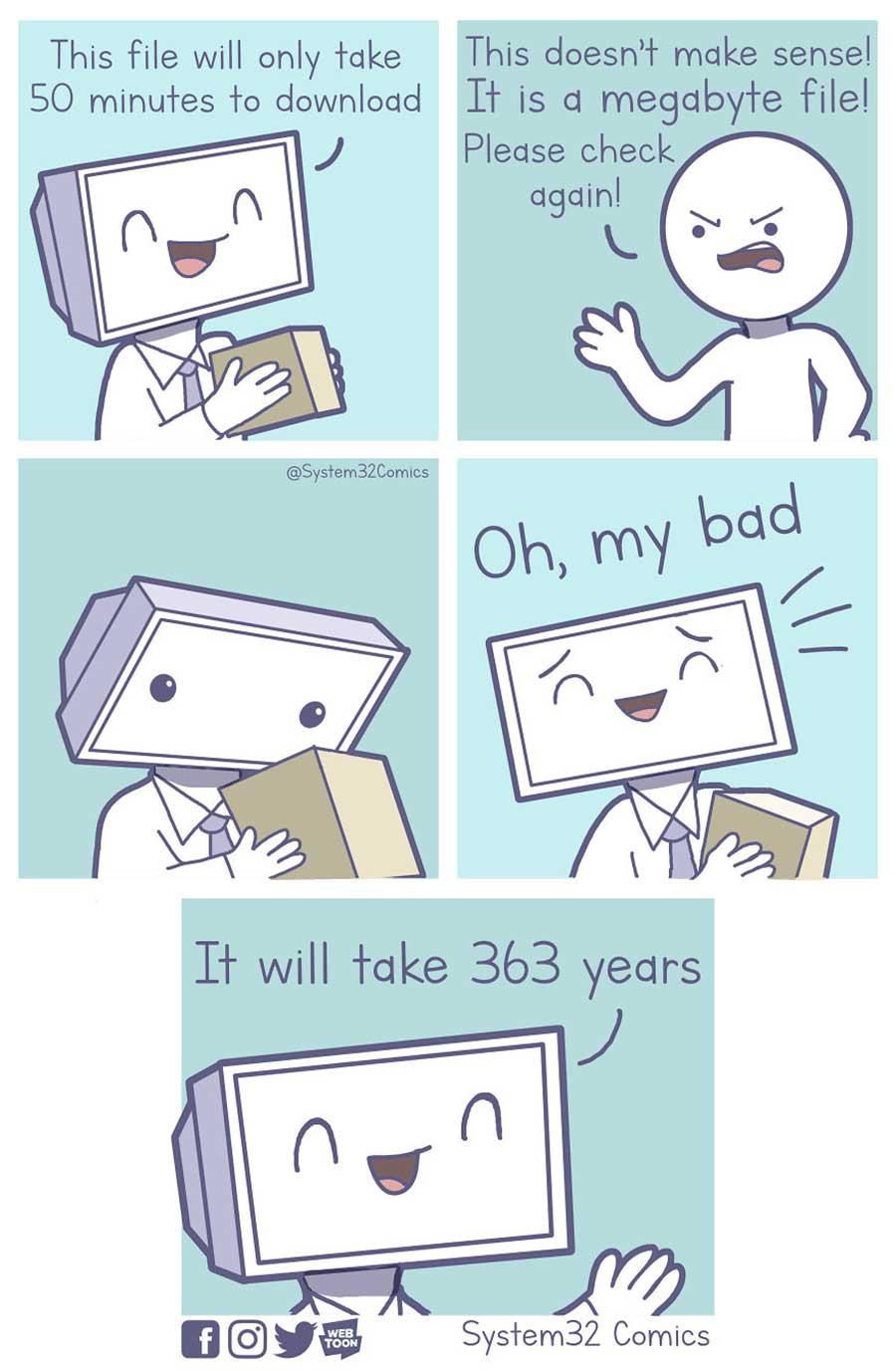 Wenn Computer Menschen wären System32Comics_01