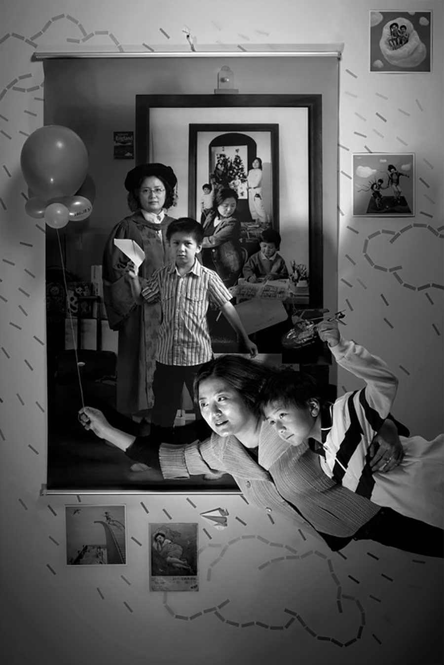Mutter fügt 17 Jahre Bildebenen hinzu, die Sohn aufwachsen zeigen mutter-17-jahre-foto-in-foto_09