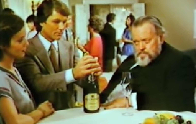 Orson Welles versuchte Champagner-Werbung aus 1978