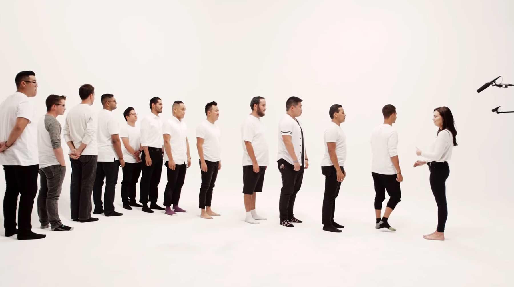 Real Life Tinder: Frau wählt aus 30 Männern