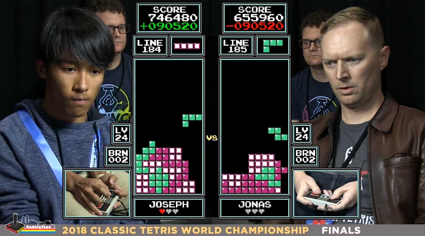 Das finale Duell um die Tetris-Weltmeisterschaft 2018