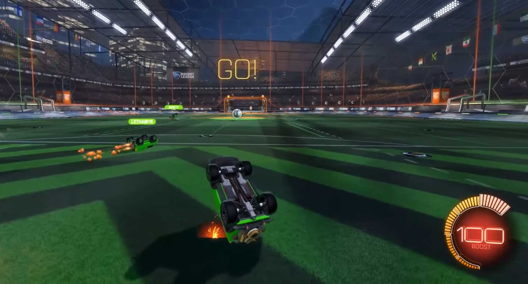 Rocket League: 4 turtlende Grand Champs vs. 1 Bronze-Spieler