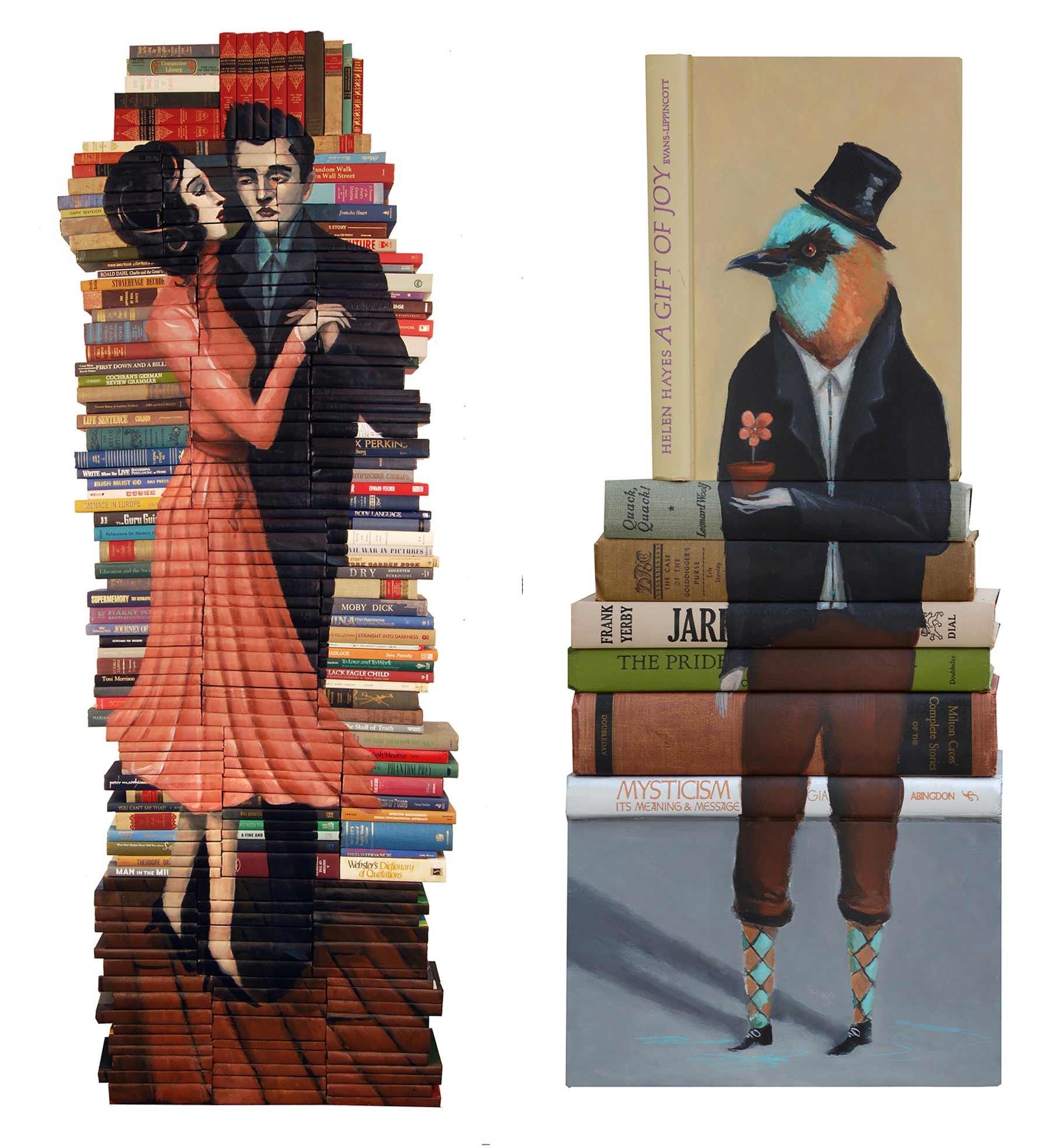 Bücher-Malerei von Mike Stilkey Mike-Stilkey_03