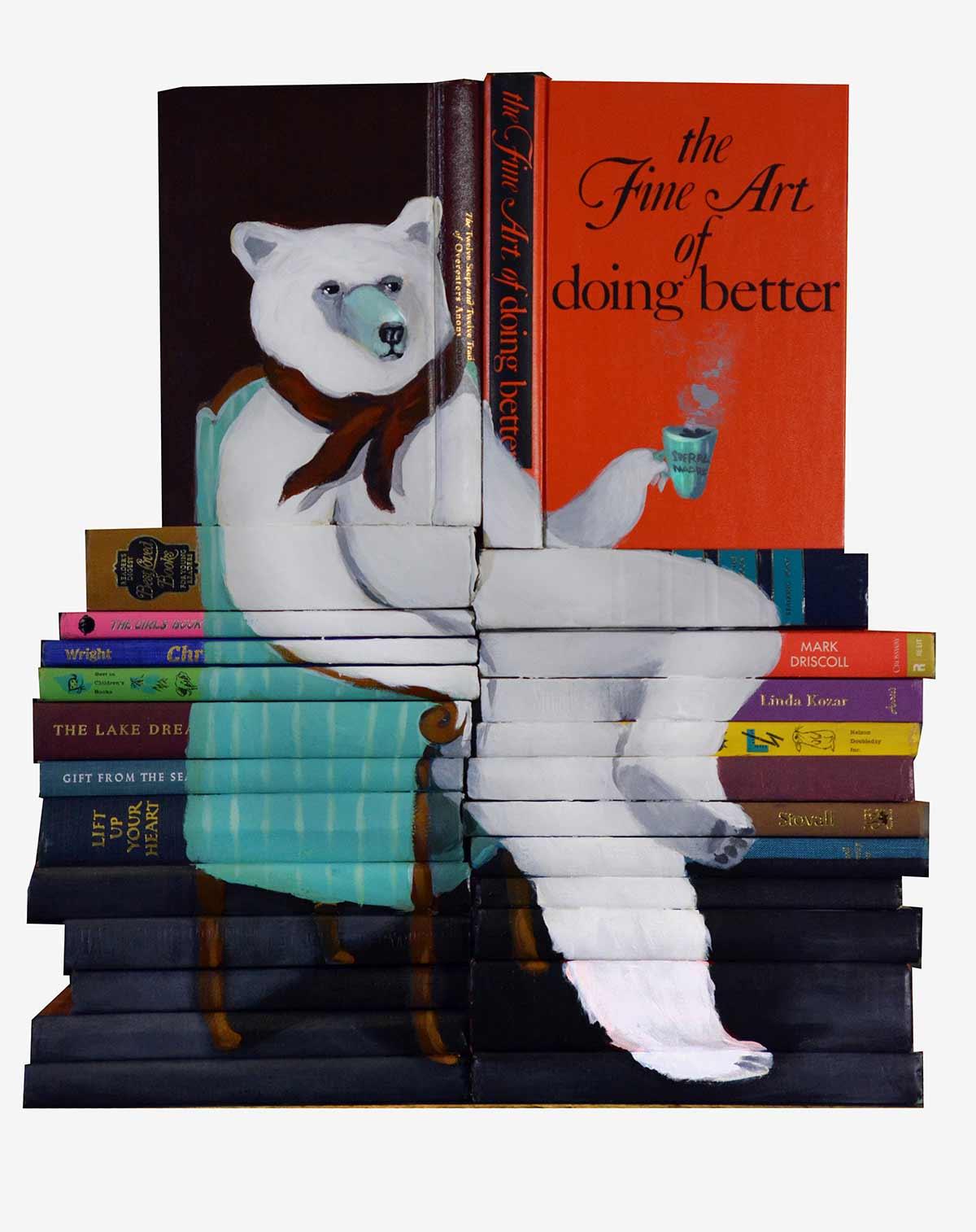 Bücher-Malerei von Mike Stilkey Mike-Stilkey_05