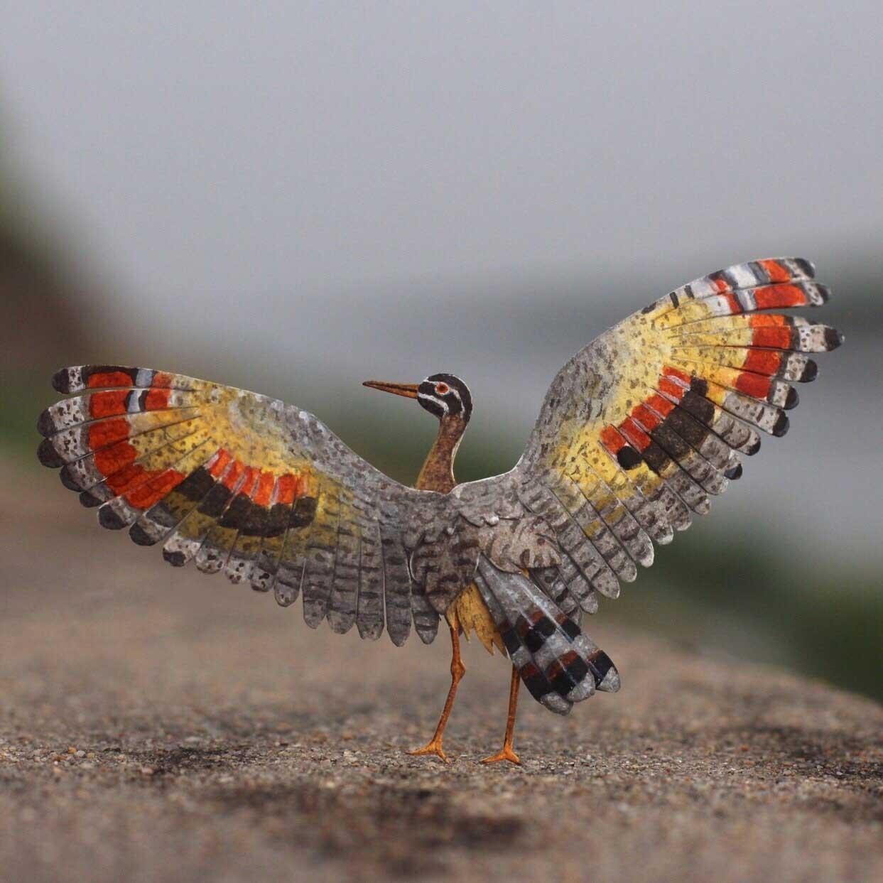 365 Papier-Vögel Nayan-and-Vaishali-miniature-birds-voegel_08