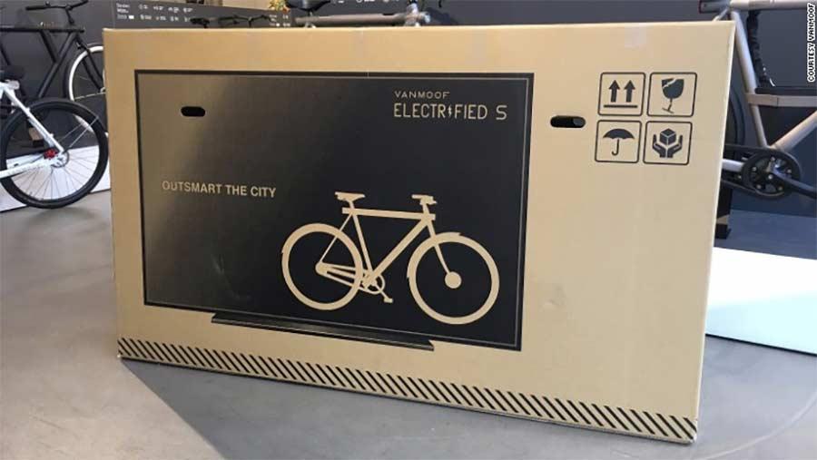 Auf Fahrrad-Pakete gedruckte Fernseher, um Transportschäden zu minimieren