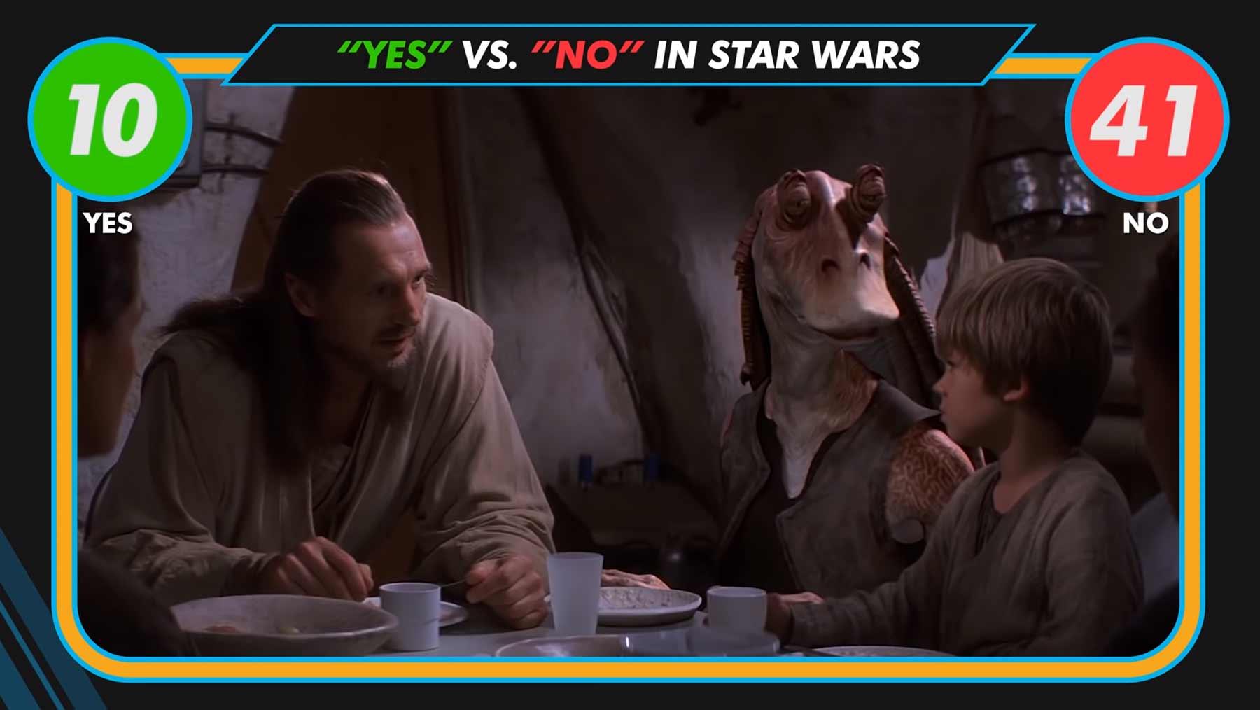 """Alle """"Ja"""" und """"Nein"""" aus den Star Wars-Filmen"""