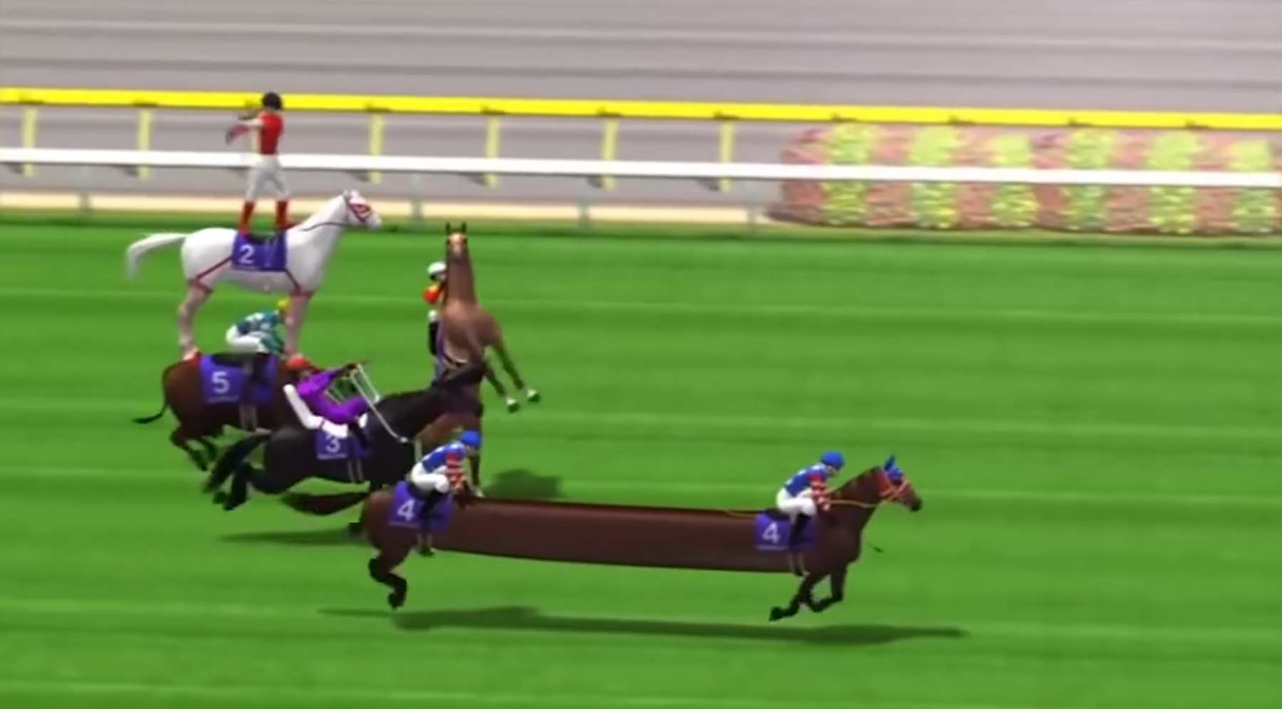 Das durchgeknallteste Pferderennspiel aller Zeiten