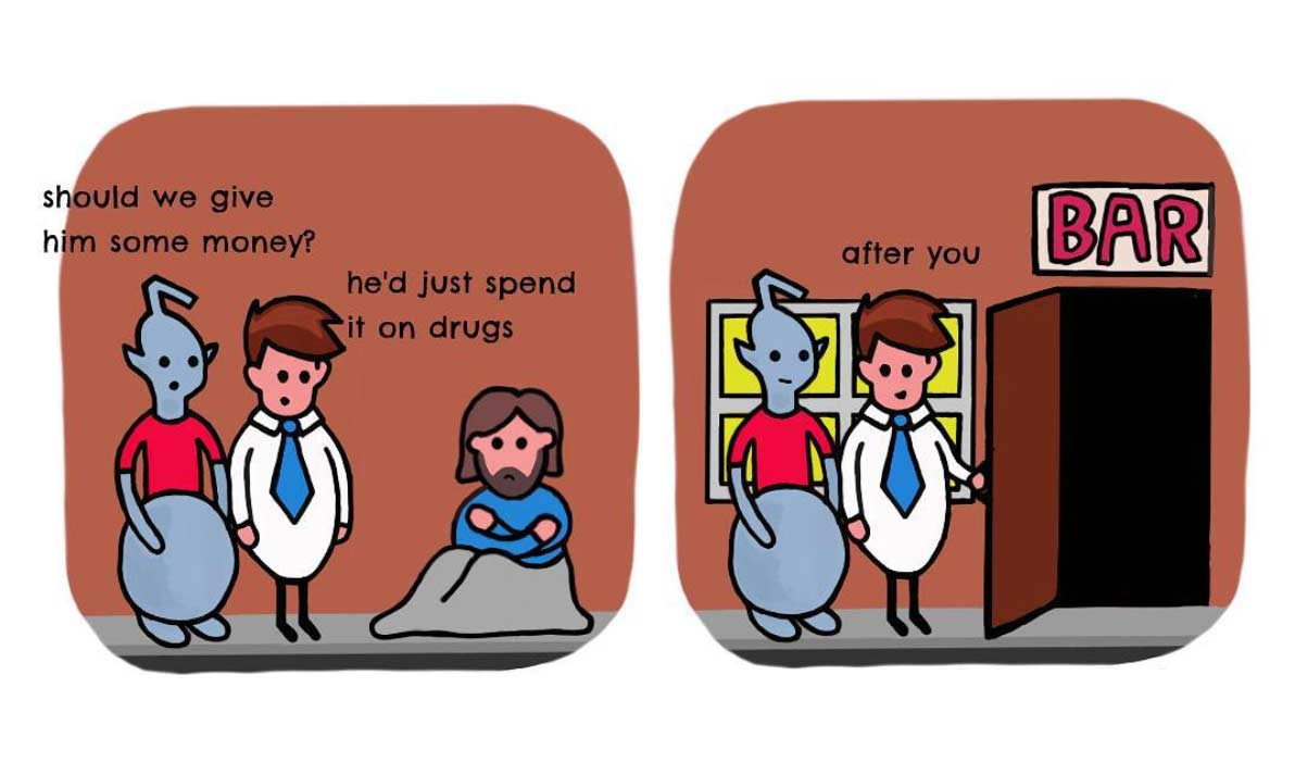 Einem Alien menschliches Verhalten erklären