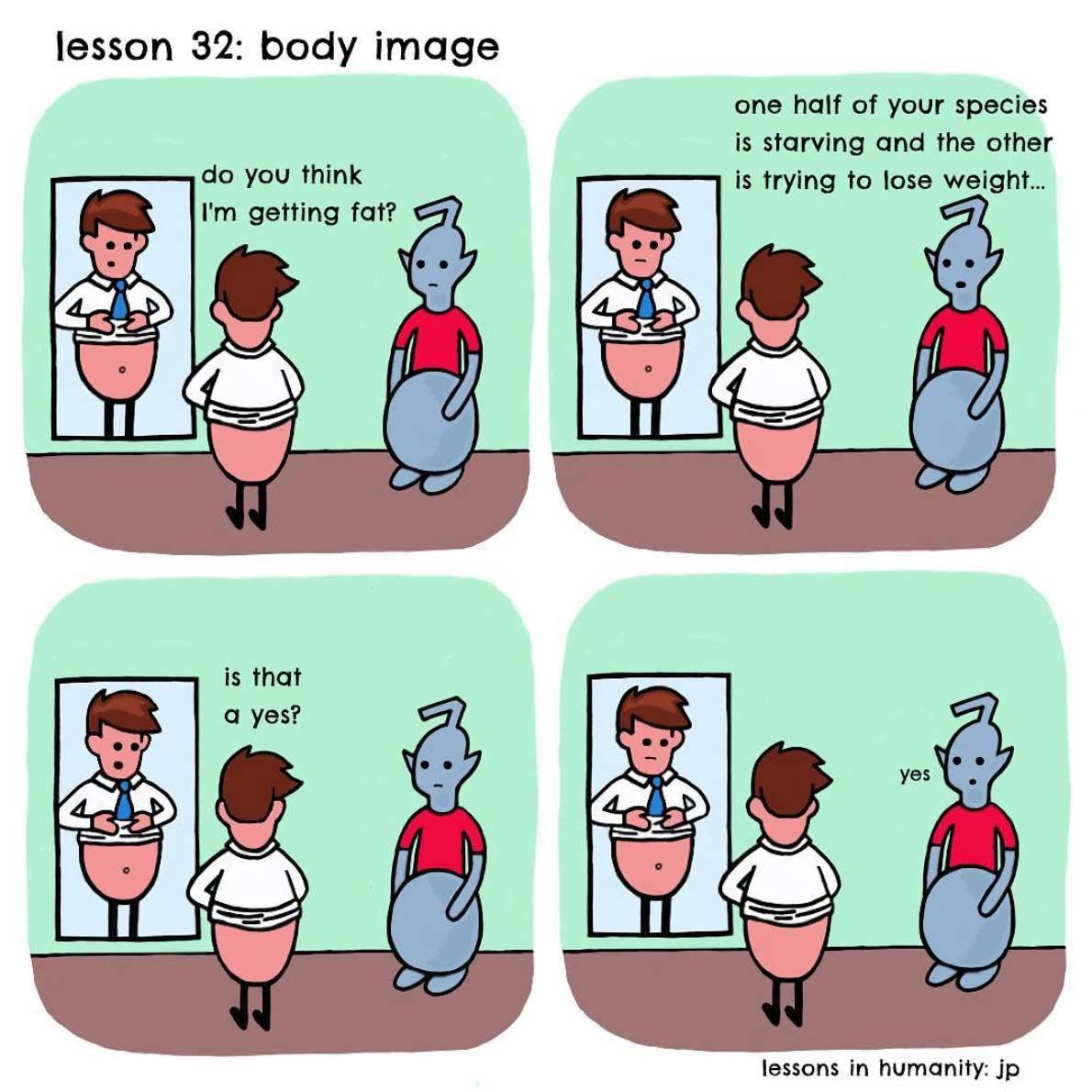 Einem Alien menschliches Verhalten erklären lessons-in-humanity-webcomic_02