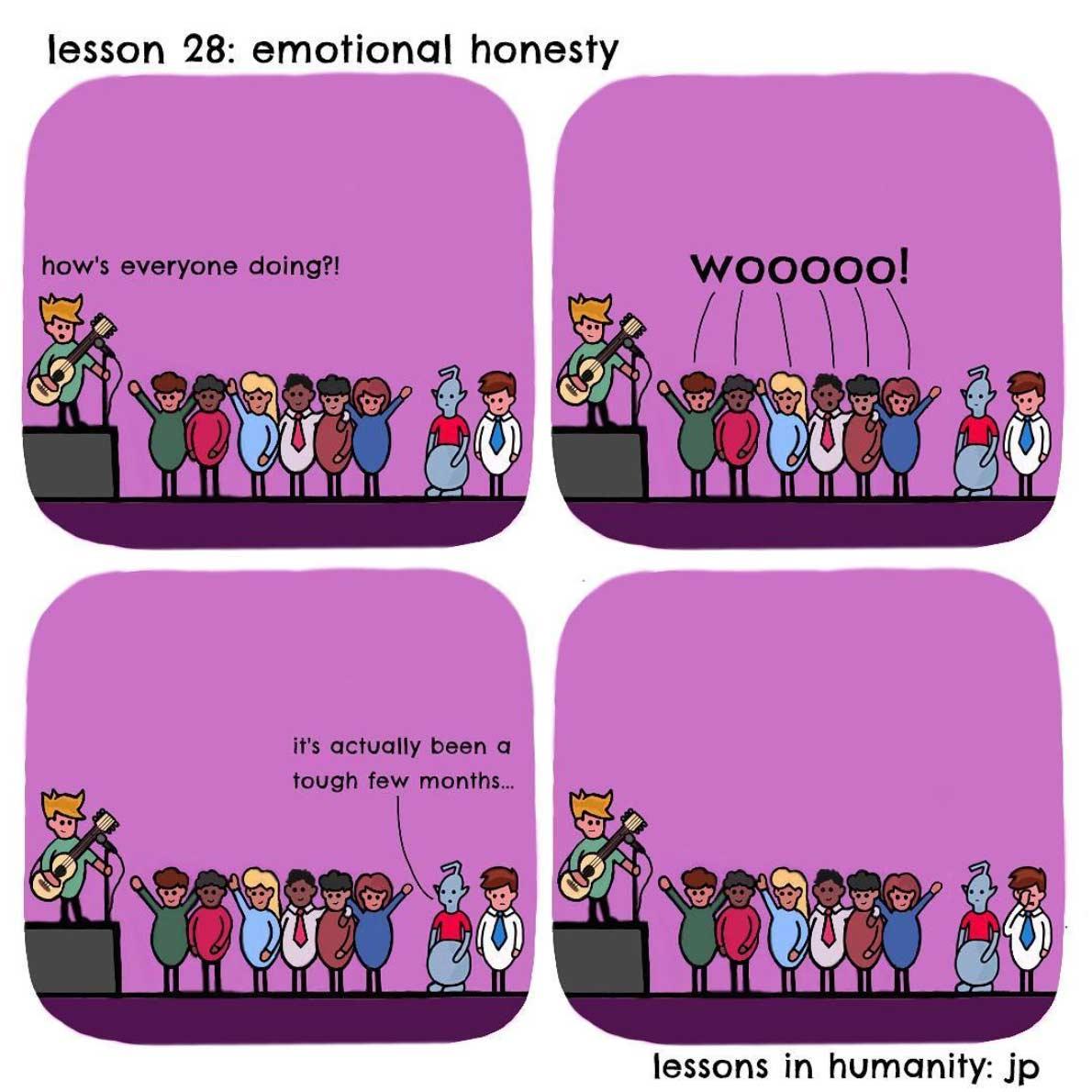 Einem Alien menschliches Verhalten erklären lessons-in-humanity-webcomic_03