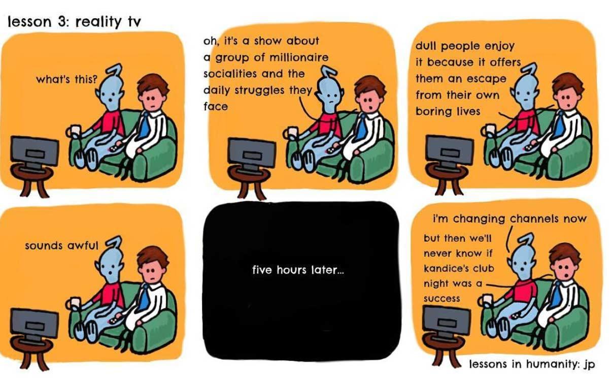 Einem Alien menschliches Verhalten erklären lessons-in-humanity-webcomic_05